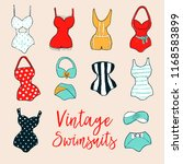 set of 10 hand drawn swimsuits. ... | Shutterstock .eps vector #1168583899