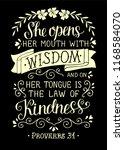 hand lettering she opens her... | Shutterstock .eps vector #1168584070