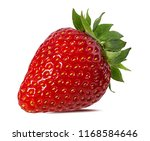 strawberry isolated on white... | Shutterstock . vector #1168584646