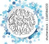 merry christmas lettering.... | Shutterstock .eps vector #1168586020