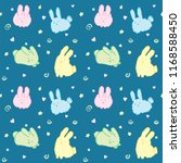 fluffy bunnies wallpaper... | Shutterstock .eps vector #1168588450