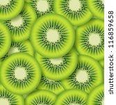 sliced kiwifruit . seamless... | Shutterstock .eps vector #116859658