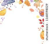 handdrawn autumn background... | Shutterstock . vector #1168598029