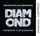 diamond crystal alphabet font.... | Shutterstock .eps vector #1168598110