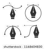 pen tool cursor. vector... | Shutterstock .eps vector #1168604830