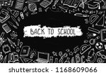 back to school background with... | Shutterstock .eps vector #1168609066