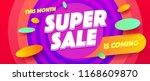 minimal geometric super sale... | Shutterstock .eps vector #1168609870