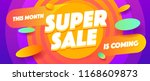 supper sale poster or flyer... | Shutterstock .eps vector #1168609873