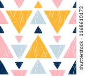 abstract handmade seamless... | Shutterstock .eps vector #1168610173