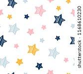 abstract handmade seamless... | Shutterstock .eps vector #1168610230