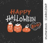 vector halloween greeting card  ... | Shutterstock .eps vector #1168612069