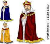 beard,blue,cartoon,ceremonial,character,control,crown,drawing,dress,fairytale,furs,gold,gown,illustration,jewelry