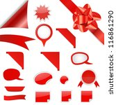 set of vector web red... | Shutterstock .eps vector #116861290