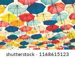 street decoration with colorful ... | Shutterstock . vector #1168615123