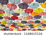street decoration with colorful ... | Shutterstock . vector #1168615126