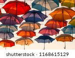 street decoration with colorful ... | Shutterstock . vector #1168615129