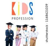 schoolchildren in costumes of... | Shutterstock . vector #1168621039