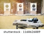 gun  projectile  on the table... | Shutterstock . vector #1168626889