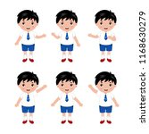 collection of little boys in... | Shutterstock .eps vector #1168630279