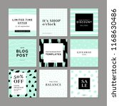 9 square layout templates for... | Shutterstock .eps vector #1168630486
