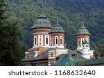 sinaia monastery in carpathian...   Shutterstock . vector #1168632640
