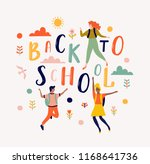 back to school lettering vector ... | Shutterstock .eps vector #1168641736