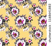 seamless pattern with pink... | Shutterstock . vector #1168641883