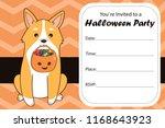 halloween party invite template.... | Shutterstock .eps vector #1168643923