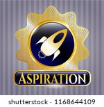 gold badge or emblem with... | Shutterstock .eps vector #1168644109