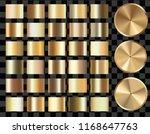 set of gold gradients   gold... | Shutterstock .eps vector #1168647763