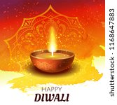 happy diwali greeting card.... | Shutterstock .eps vector #1168647883
