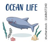 ocean shark cartoon... | Shutterstock .eps vector #1168657240