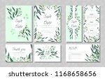eucalyptus design. wedding... | Shutterstock .eps vector #1168658656