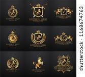 crests logo set. vector... | Shutterstock .eps vector #1168674763