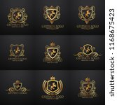 crests logo set. vector... | Shutterstock .eps vector #1168675423