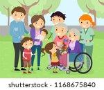 illustration of stickman family ... | Shutterstock .eps vector #1168675840
