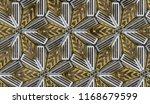 3d metal matte tiles with... | Shutterstock . vector #1168679599