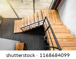 Wooden Stairs At Modern Office...
