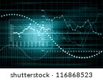 business graph with arrow... | Shutterstock . vector #116868523