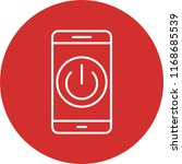 mobile app line circle icon | Shutterstock .eps vector #1168685539