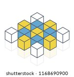 abstract cube vector shape... | Shutterstock .eps vector #1168690900