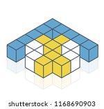 abstract cube vector shape... | Shutterstock .eps vector #1168690903