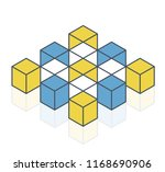 abstract cube vector shape... | Shutterstock .eps vector #1168690906