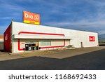 ponferrada  spain. circa august ... | Shutterstock . vector #1168692433