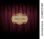 theater scene on red curtain... | Shutterstock .eps vector #1168693180
