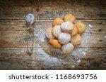 Donuts With Sugar Powder On A...