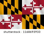 maryland us state flag with... | Shutterstock .eps vector #1168693933