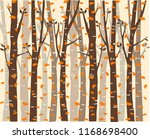 trees background. the trunk and ... | Shutterstock .eps vector #1168698400