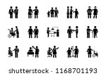 medical situations glyph icons  | Shutterstock .eps vector #1168701193
