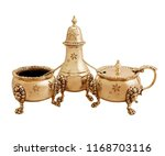 set of antique teapot isolated... | Shutterstock . vector #1168703116
